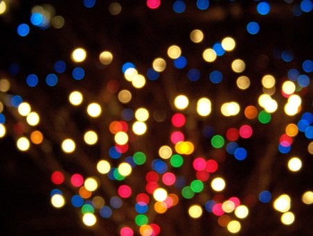 Christmas, Lights, Focus, Xmas, Holiday, Decoration