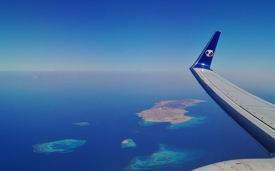 View From Airplane, Heaven, Island, Sea, View
