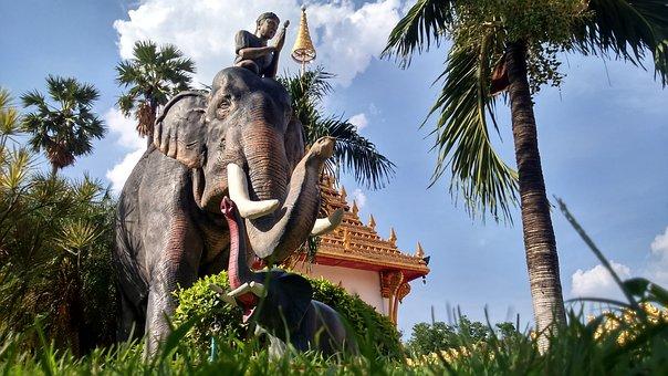Buddha, Khon Kaen, Phra Mahathat Kaen Nakhon, Temple
