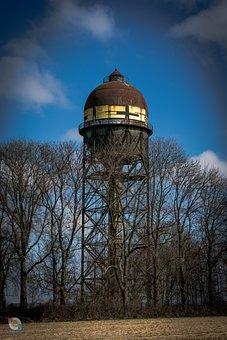 Water Tower, Grevel, Shadow, Mood, Lanstrop, Dortmund