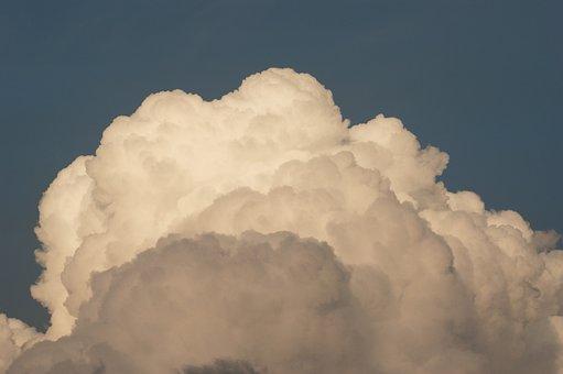 Cloud, Thunderhead, Fluffy, Large, White, Cumulo Nimbus