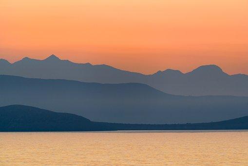 Greece, Mountains, Landscape, Sea, Nature, Scenery