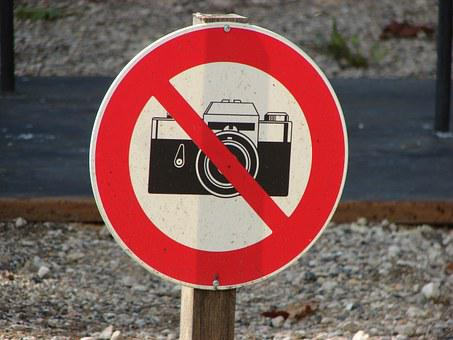 Photography, Prohibited, Sign, Symbol, Camera, No, Ban