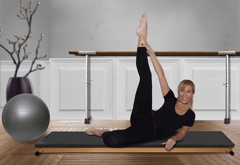 Woman, Pilates, Gymnastics, Training, Gym, Exercises