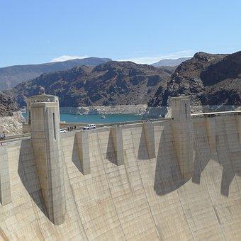 Hoover, Dam, Nevada, Power, Lake, Colorado, Usa