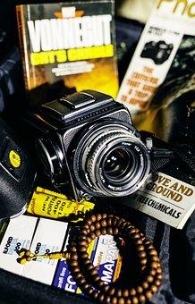 Vintage Camera, Hasselblad, Film, Mala, Praying Beads