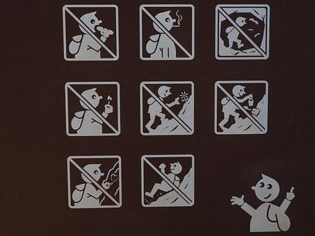 Pictogram, Prohibited, Note, Sign, Ban, Shield, Symbol