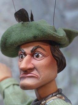 Puppet, Man, Fighter, Grim, View, Robin Hood, Doll