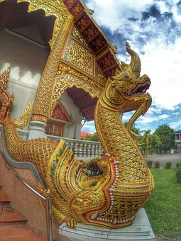 Measure, Chiang Mai Thailand, Serpent, Wat Phra Singh