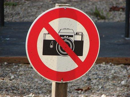 Photography, Prohibited, Sign, Symbol, Camera, No, Ban