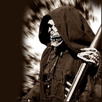 Grim Reaper, The Death, Man With The Scythe, Skull