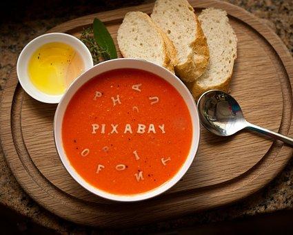 Pixabay, Logo, Font, Breakfast, Soup, Toast