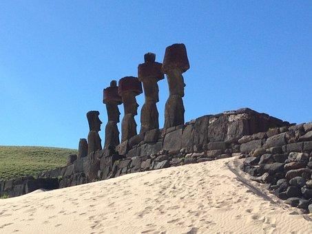 Easter Island, Moai, Remoteness, Statuary