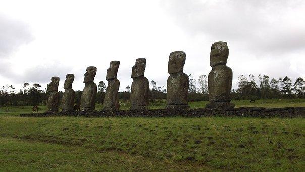 Easter, Island, Moai, Stone, Statue, Rock