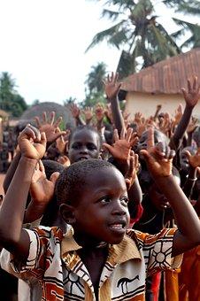 Children, Togo, Group, People, Black, Negro, African