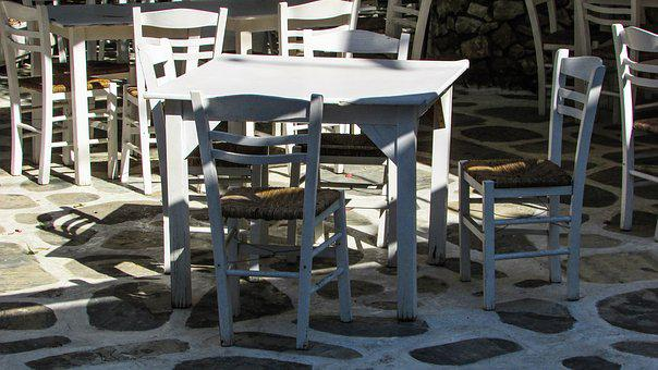 Tavern, Traditional, Chairs, White, Greece, Tourism