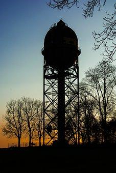 Water Tower, Water Supply, Dortmund, Lanstrop, Egg