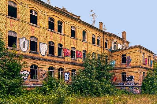 Urban, Old, Graffiti, Building, Abandoned, Facade