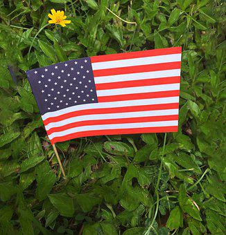 Memorial Day, Flag, American, Usa, Patriotic, Blue, Red