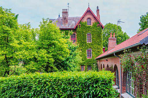 Architecture, Building, Ivy, Brick, Red, House, Master