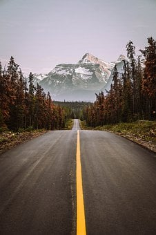 Mountain, Canada, Jasper, Road, Snow, Banff, Scenic