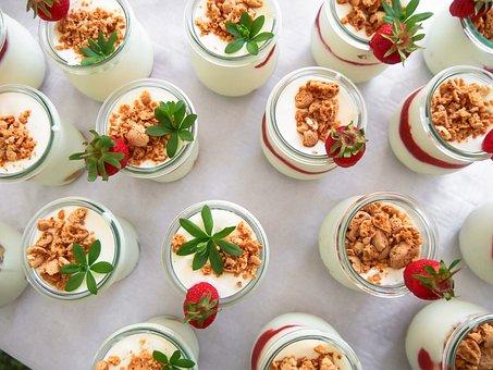 Eat, Drink, Dessert, Sweet Dish, Strawberry, Yogurt