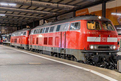 Train, Diesel, Railway, Locomotive, Transport, Rails