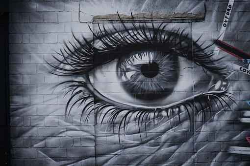 Street Art, Eyes, Digbeth, Colorful, Eye, Drawing
