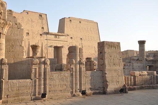 Edfu, Temple, Egypt, Pharaoh, Luxor, Travel, Nile