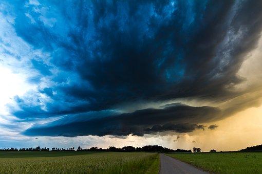 Super Cell, Evening, Cumulonimbus, Storm Hunting