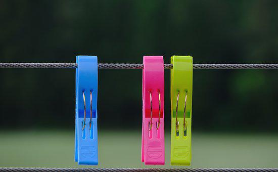 Clothespins, Plastic, Colorful, Budget, Fixing, Jam