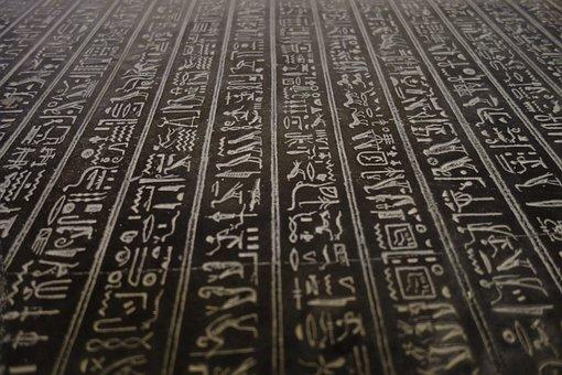 Hieroglyphs, Egypt, Cairo, Pyramid, Ancient, History