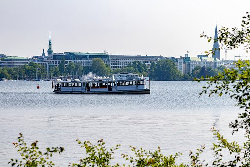 Alster, Ship, Boat, Lake, Hanseatic City, Architecture