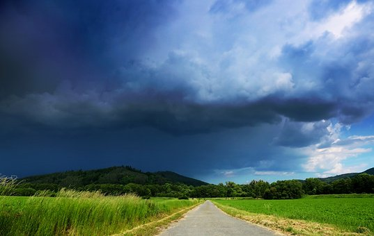 Storm, Weather, Clouds, Landscape, Sky, Dramatic