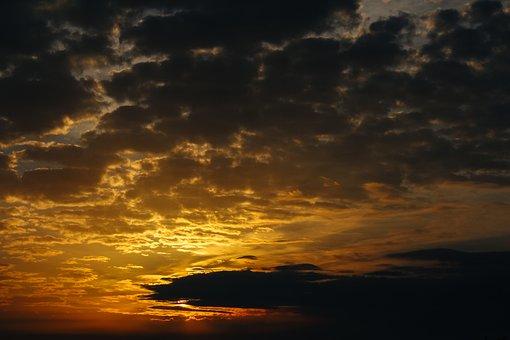 Heaven, Cloud, Sunrise, Landscape, Storm, Light