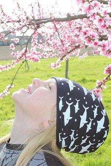 Flowers, Nature, Spring, Blonde Hair, Long Hair, Boy