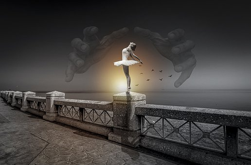 Manipulation, Ballerina, Ballet, Dancer, Hands, Balcony