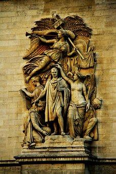 Arc De Triomphe, Paris, France, Monument, Architecture