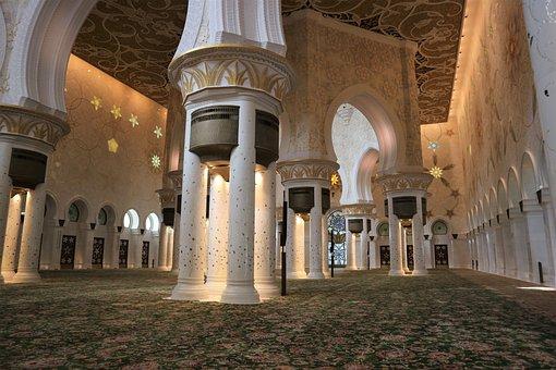Abu Dhabi, Sheikh Zayed Mosque, Architecture, Mosque