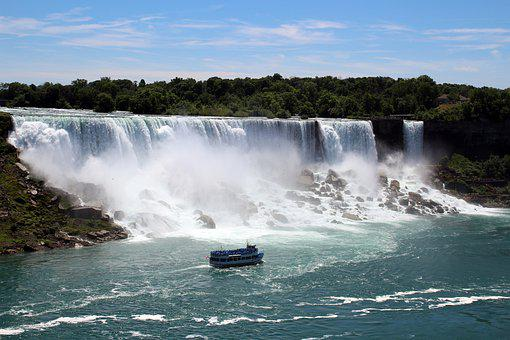 Niagara Falls, Maid Of The Mist, Waterfall, Boat