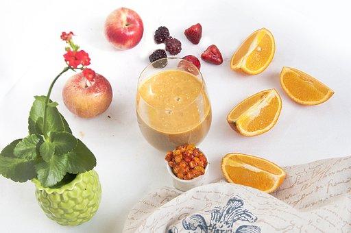 Smoothie, Juice Fruit, Oranges, Apples, Breakfast