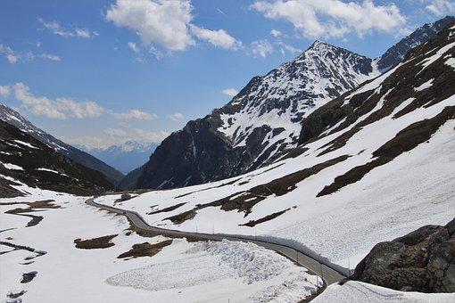 Pass, Snow, Alpine, Avalanche, Mountain, Road