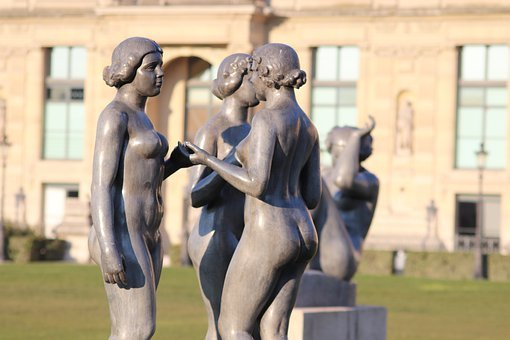 Sculpture, Statue, Bronze, Maillol, Paris, Monument