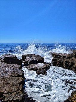 Waves, Wave, Rocks, Rock, Scum, Sea, Mediterranean
