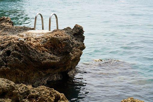 Marine, Swim, Iskele, Rocks, Rocky, Water, Wave