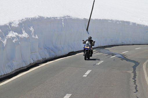 The Alps, Snowy, Motor, Snow Drifts, The Risk Of, Bend