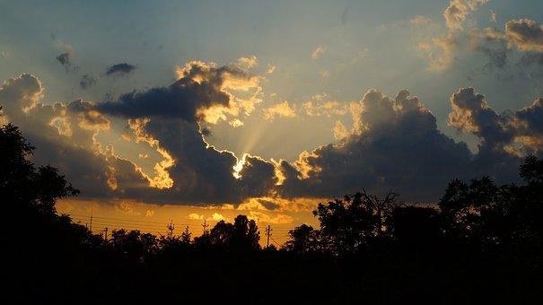 Landscape, View, Nature, Sky, Dark, West, The Sun