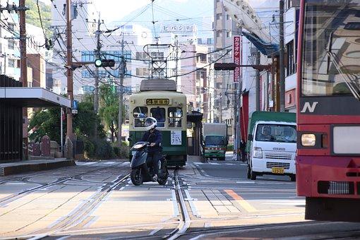 Street, Tram, Tracks, Traffic