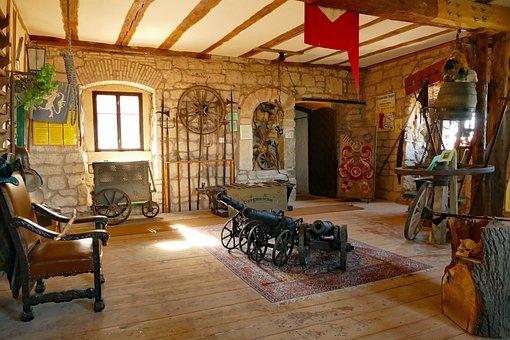 Castle, Castle Room, Setup, Utensils, Middle Ages