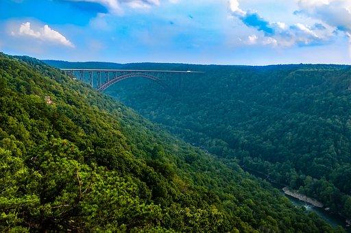 West Virginia, Mountains, New River Gorge, Bridge